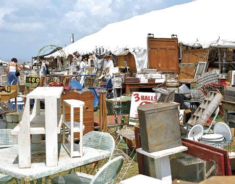 pictures of outside antique fair booths | Country Living Visits the Marburger Farm Antique Show