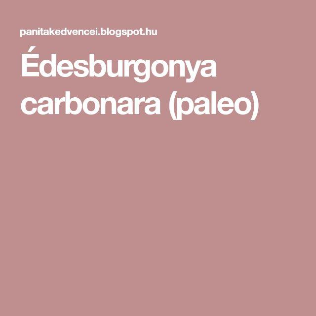 Édesburgonya carbonara (paleo)