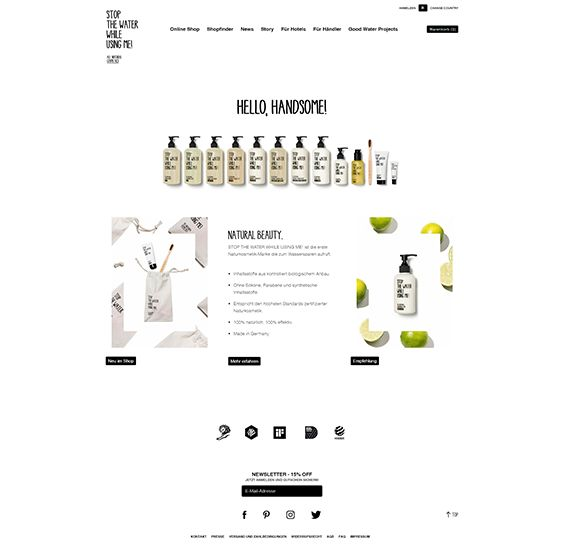 This online shop offers a range of natural cosmetic products for the bathroom. The theme of this shop is clean and in this case very suitable to the product claim and to the business concept. All products are free from chemical substances or artificial dyes. #graphikdesign #webdesign #cleanwebdesign #beauty #shopware #ecommerce