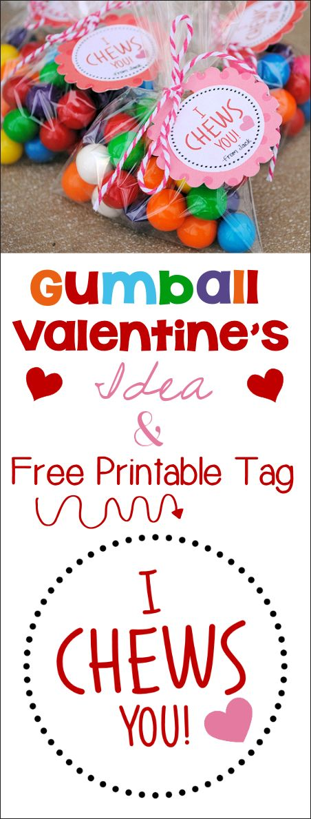 I *Chews* You Valentine Idea & Printable - Crazy Little Projects