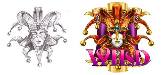 "Graphic design of symbol for the game slot machine ""Venezsia"" http://artforgame.com/venezsia/"