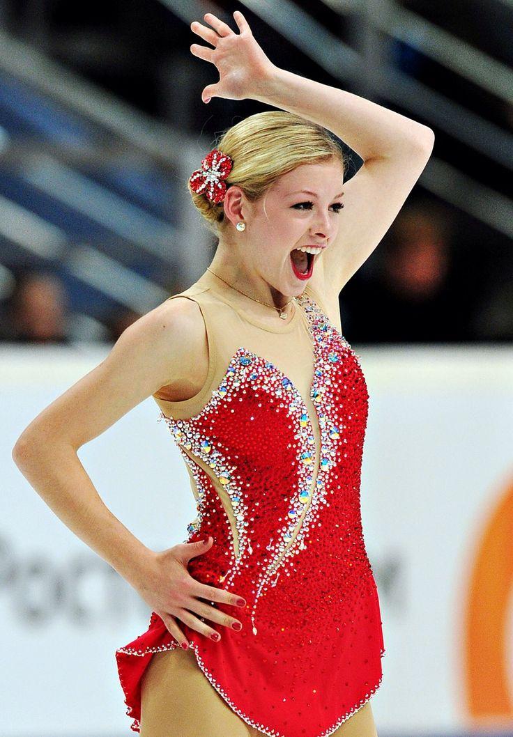 Gracie gold, Red Figure Skating / Ice Skating dress inspiration for Sk8 Gr8 Designs.