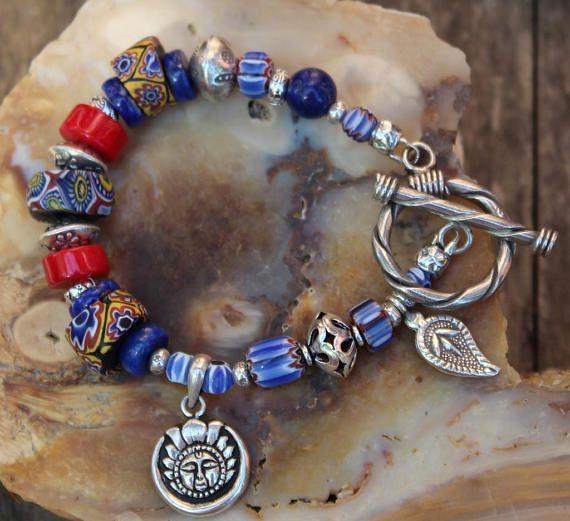 Trade Bead Bracelet Trade Bead Jewelry Trade Beads Ethnic