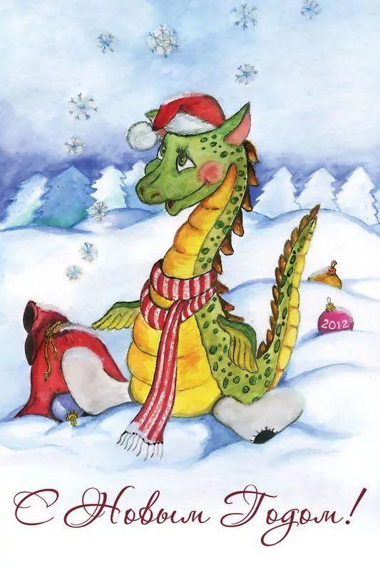 Картинки драконы с новым годом