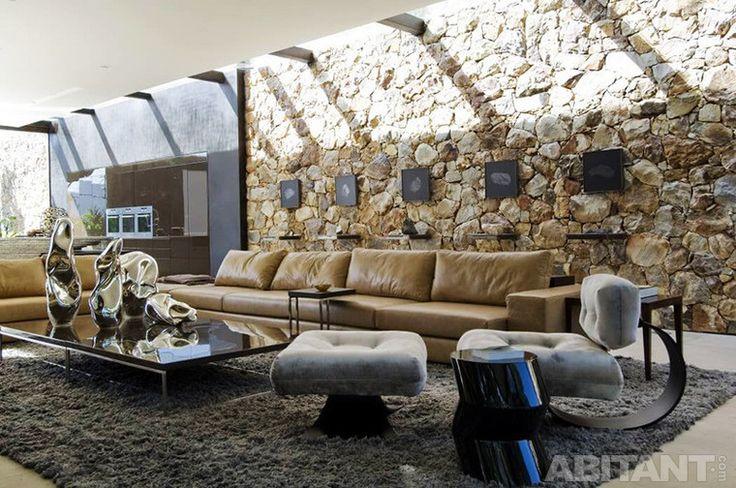 Гостиная в стиле органической архитектуры