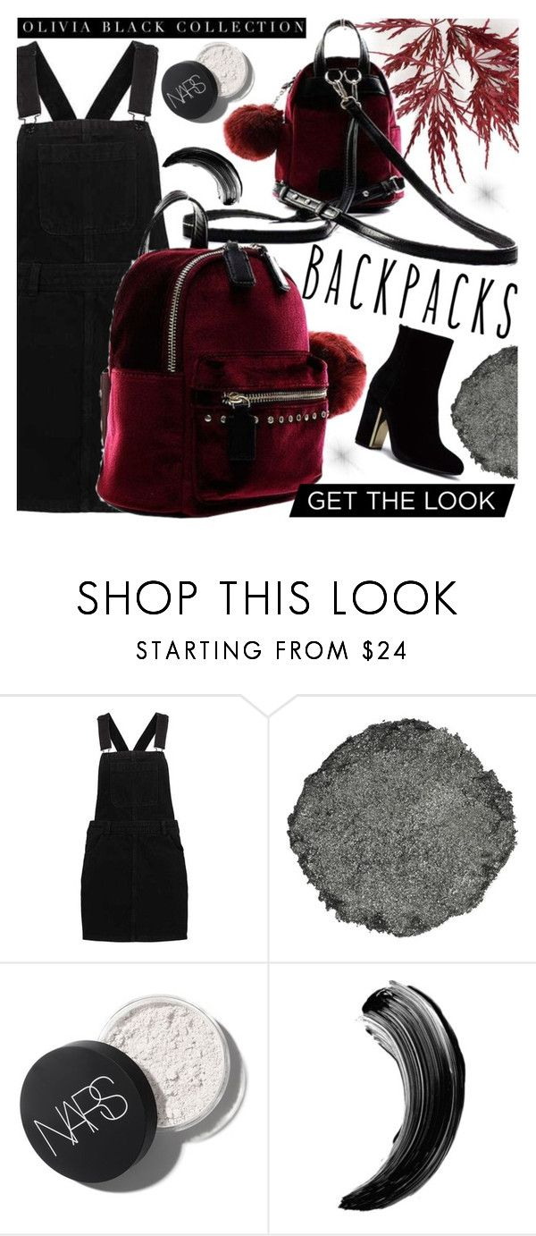 """""""OLIVIA BLACK COLLECTION"""" by gaby-mil ❤ liked on Polyvore featuring Illamasqua, backpack, shop and oliviablackcollection"""