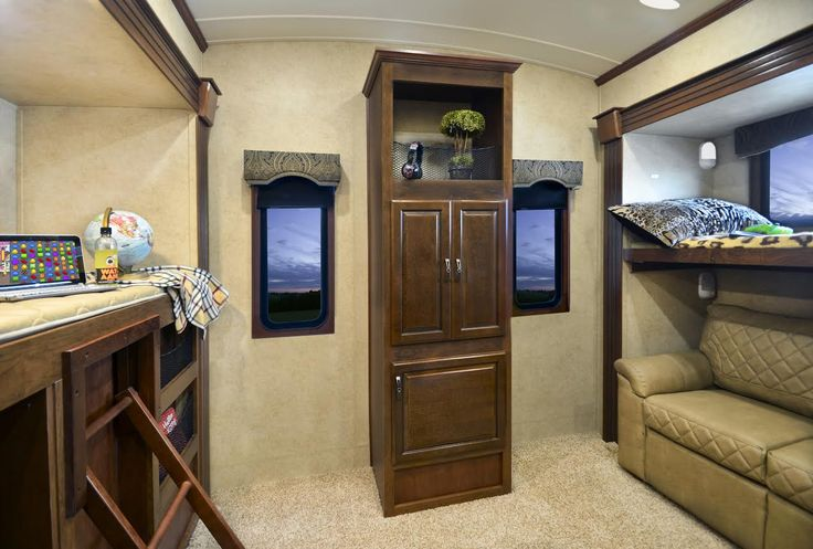 Used 5Th Wheels >> Lifestyle Luxury RV's Alfa Gold Bunkhouse Model Has it All | Rv furniture, Bunk house, Rv floor ...