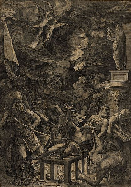 The Martyrium of St. Laurent (after Tiziano) (1571)