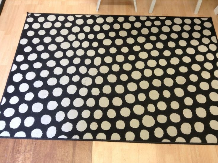Black Polka Dot Rug