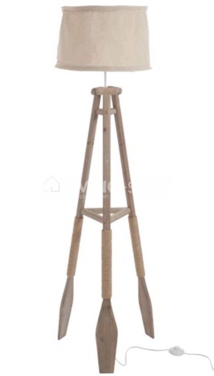 Staande lamp 3 pikkel peddels J-line landelijke lampen #LIVINGshop webshop