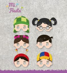 El Chavo del ocho Inspired set Masks Chaves Chapulin by MiFiesta