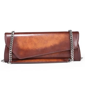 TERSE Italian cow leather evening bag for women handmade clutch bag with custom service