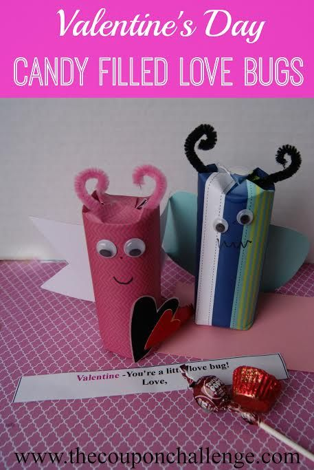 This is such a super cute craft for kids!  Make a candy filled love bug Valentine's craft in February.  It's an easy Valentine crafts for kids to send to family and friends.: Valentines Crafts, Crafts For Kids, Easy Valentines, Kids Valentines, Bugs Valentine'S, Bugs Valentines, Valentine'S Crafts, Kids Valentine Crafts, Candy Fillings