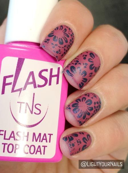 Orly High on Hope stamped with pink polish and BP106 plate from Bornprettystore + TNS matte top coat @tnscosmetics @bornprettystore @orlybeautybuzz #nailart #nailstamping