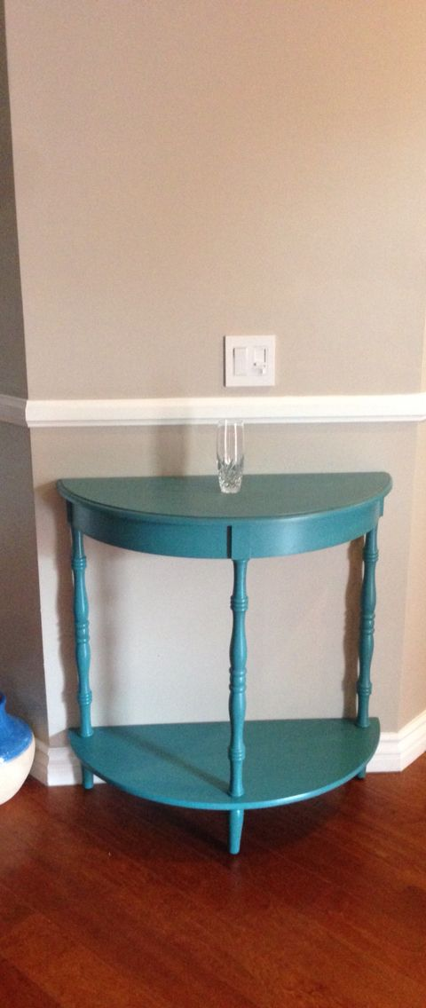 half moon table from home goods