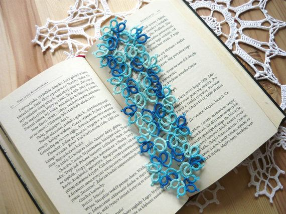 Check out this item in my Etsy shop https://www.etsy.com/listing/269270691/tatted-bookmark-in-the-blue-shades #mariannieart #etsy #bookamark #bookworm #booklovergift #geekgift #Tattedbookmark #tattinggift #nerdgift