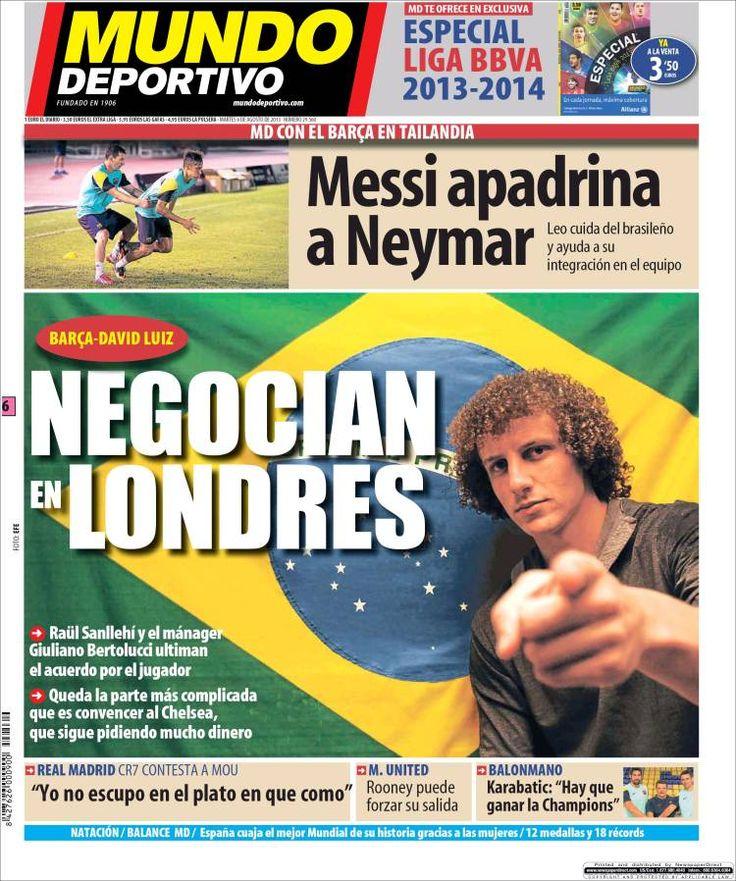 Los Titulares y Portadas de Noticias Destacadas Españolas del 6 de Agosto de 2013 del Diario Mundo Deportivo ¿Que le pareció esta Portada de este Diario Español?