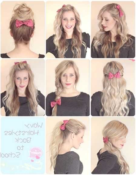 Stupendous 1000 Ideas About Cute School Hairstyles On Pinterest Curly Hairstyles For Women Draintrainus