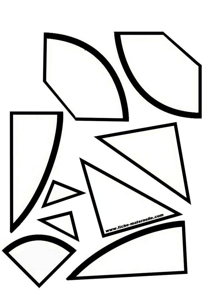 Stukjes tangram ei   Cijfers en getallen   Pinterest