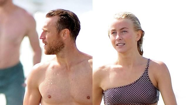 Julianne Hough Shows Off Her Rock Hard Abs During Beach Trip with Husband Brooks and Brother Derek #JulianneHough