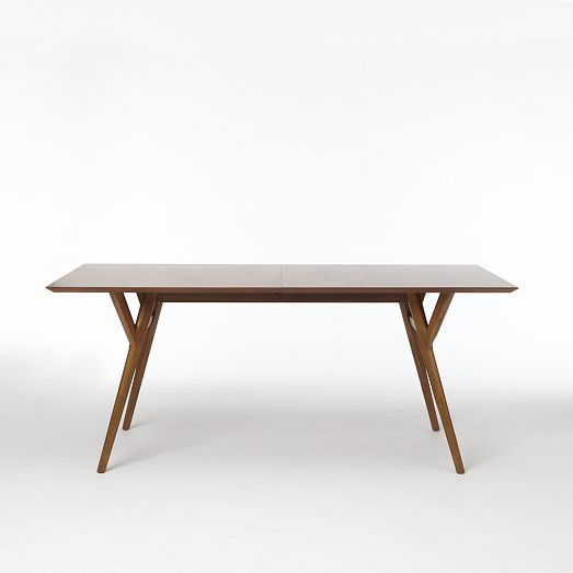 West Elm Parker Mid Century Expandable Dining Table Two Sizes