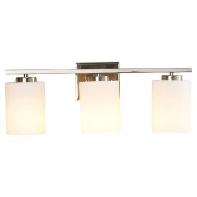 Brayden Studio Brazelton 3-Light Vanity Light Finish: Satin Nickel