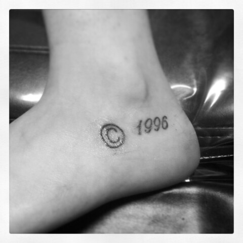 Copyright & date of birth tattoo love it!! © | Ink ...