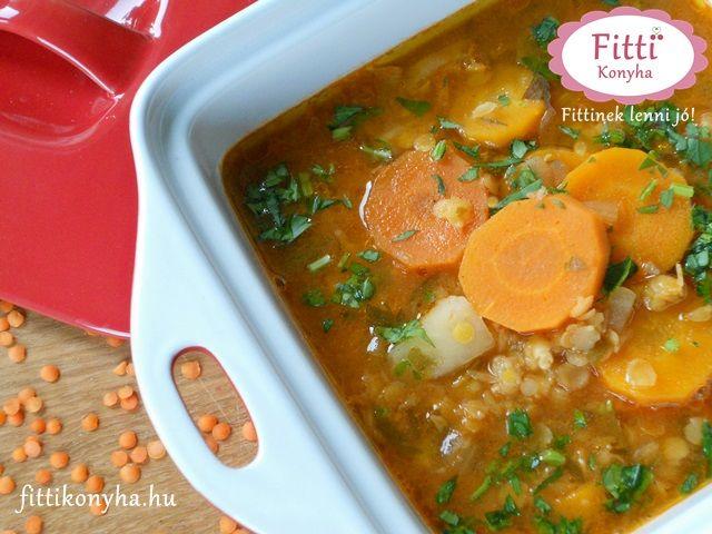 Isteni finom vöröslencse-leves