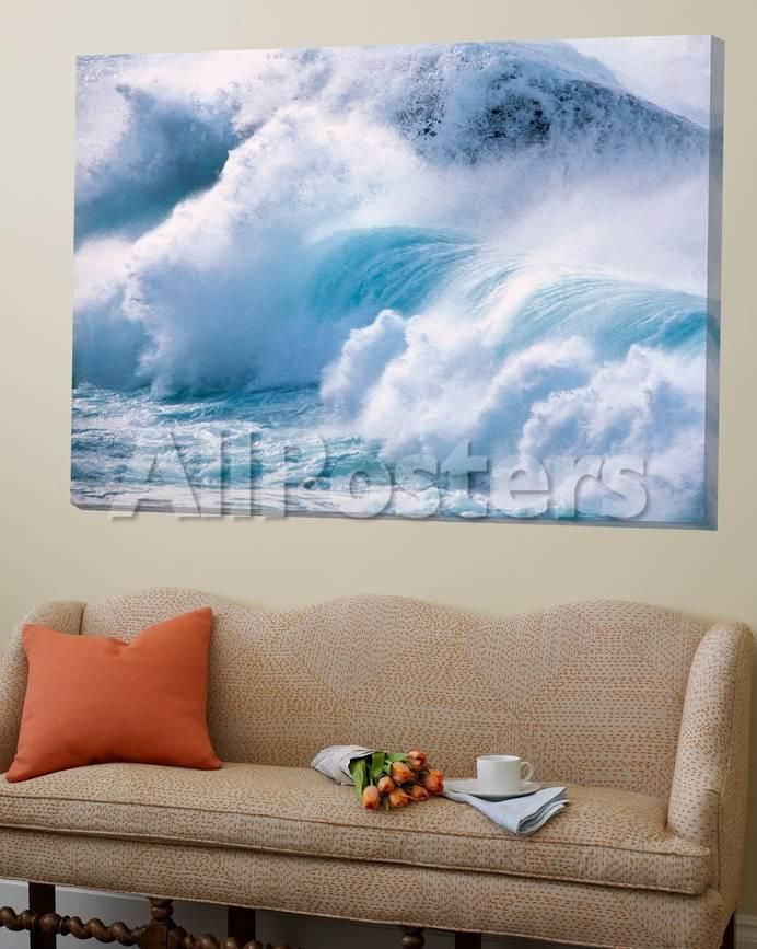 Heavy Water Waves Crashing in Sea Posters by Green Light Collection - AllPosters.co.uk