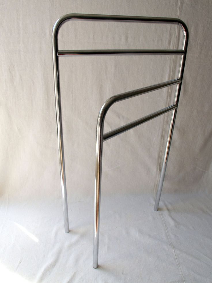 MIdCentury Art Deco  Chrome Free Standing Towel Rail, Airer Folding Space Saver