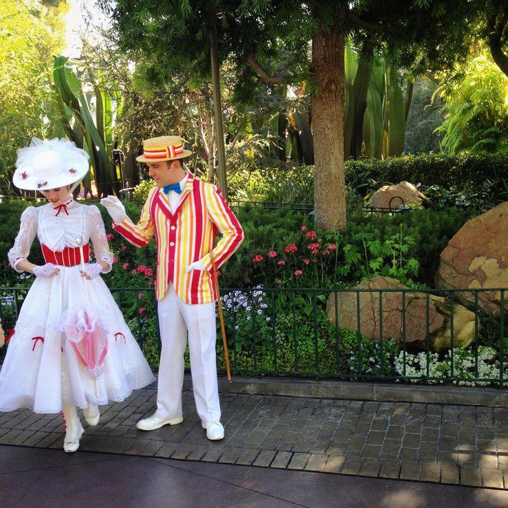 Mary Poppin and Bert in Fantasyland - Disneyland, California
