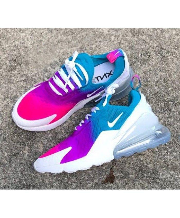 Nike Air Max 270 Custom Blue Purple/Hyper Pink   Nike air ...