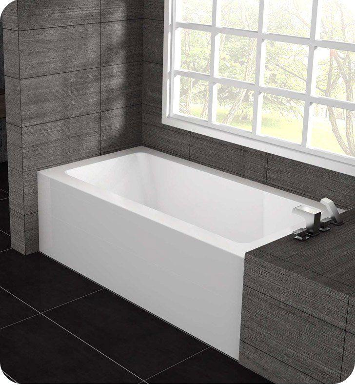 Oceania Pu60 Pure 59 3 4 Customizable Alcove Rectangular Bathtub