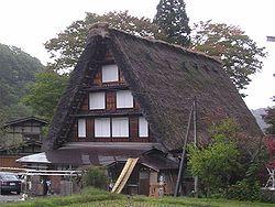 Minka A gasshō-zukuri-styled minka home in Shirakawa village, Gifu Prefecture