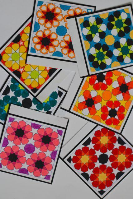 Geometric Coloring Garland | free printable