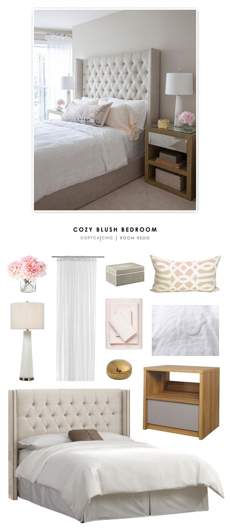 Copy Cat Chic Room Redo | Cozy Blush Bedroom | | Copy Cat Chic | chic for cheap | Bloglovin'