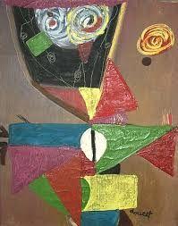 Mogens Balle (1921-1988) was een Deens kunstschilder en schrijver. Na zijn Cobra-periode werd zijn werk steeds abstracter. Hij maakte ook Peinture-mots, waarbij woord en beeld in één werk samengevoegd werden. Vanaf de jaren 60 maakte hij ook bronzen beelden van zijn fantasiefiguren.