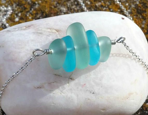Sea Glass Necklace Sterling Silver Necklaces Sea Glass
