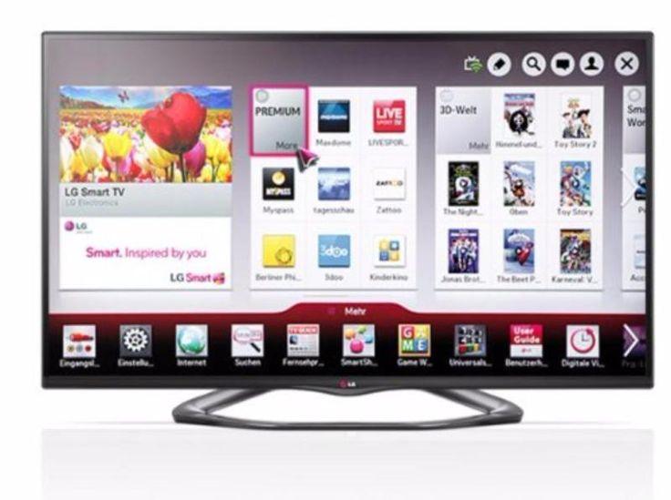 Fernseher ist extrem schmal gebaut mit extrem dünnen Rahmen, quasi Rahmlos und wird nur wegen Systemwechsel zum Beamer verkauft. Technisch kann er so ziemlich alles!Zubehör: Magic Motion Fernbedienung, 3D Brillen, FußProduktbeschreibungenLG 55LA6608 139,7cm Fernseher 3D LED-Backlight-Fernseher, EEK A  (Full HD, 400Hz MCI, WLAN, DVB-T/C/S, Smart TV)Mit dem LG 55LA6608CINEMA 3D-TV holen Sie sich nicht nur Heimkino-Feeling nach Hause, Sie bekommen gleich eine ganze Multimediazentrale dazu. Und…