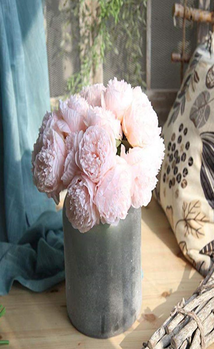 Longra Kunstliche Seide Gefalschte Blumen Pfingstrose Kunstblume