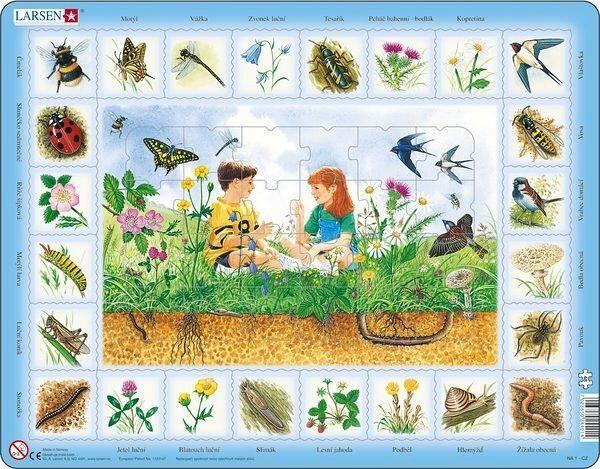 výukové puzzle NA LOUCE (v češtině) Larsen