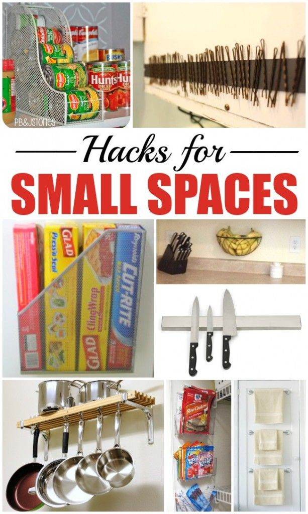 10 hacks for small spaces diy kitchen storage linen for Small kitchen organization hacks