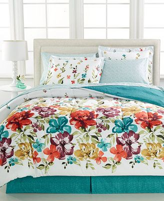 A floral fantasy. The Haven bedding ensemble features big blooms bursting with color for a sensational update to your master suite or the guest room. | Polyester; polyester fill | Machine washable | I