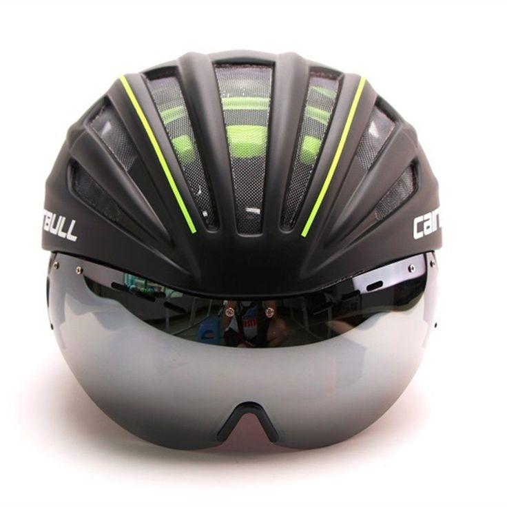 Bersepeda helm casco ciclismo sepeda sepeda helm capacete da bicicleta casco mtb sepeda helm dengan lensa visor cairbull merek