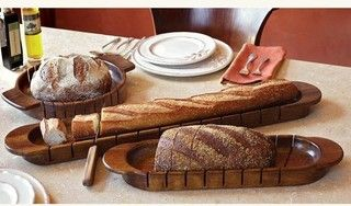 Cross-Cut Artisan Bread Slicers - eclectic - knives and chopping boards - other metro - by Napa Style