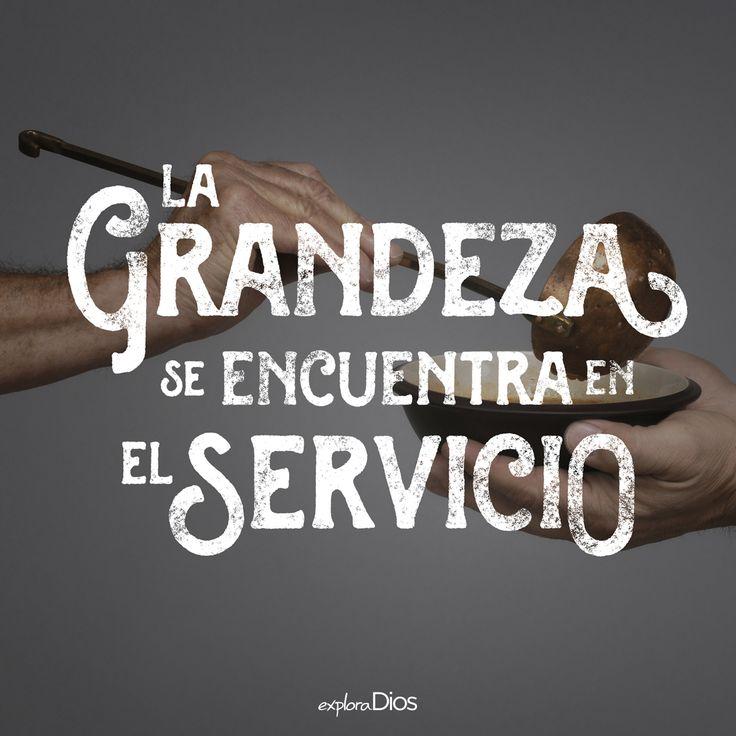 """""""La grandeza se encuentra en el servicio"""" #SUD #caridad"""