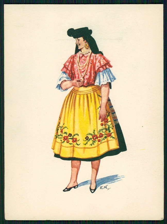 Art Emerico Nunes Ethnic Folk Dress Costume Nazare Portugal Old 1950s Postcard | eBay
