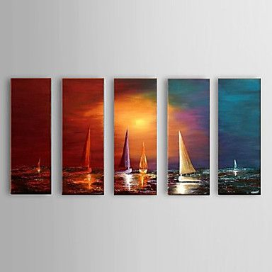 Handpainted+Oil+Paintings+Sailing+on+the+Sea+Office+Decor+with+Stretched+Frame+Ready+To+Hang+–+AUD+$+159.57