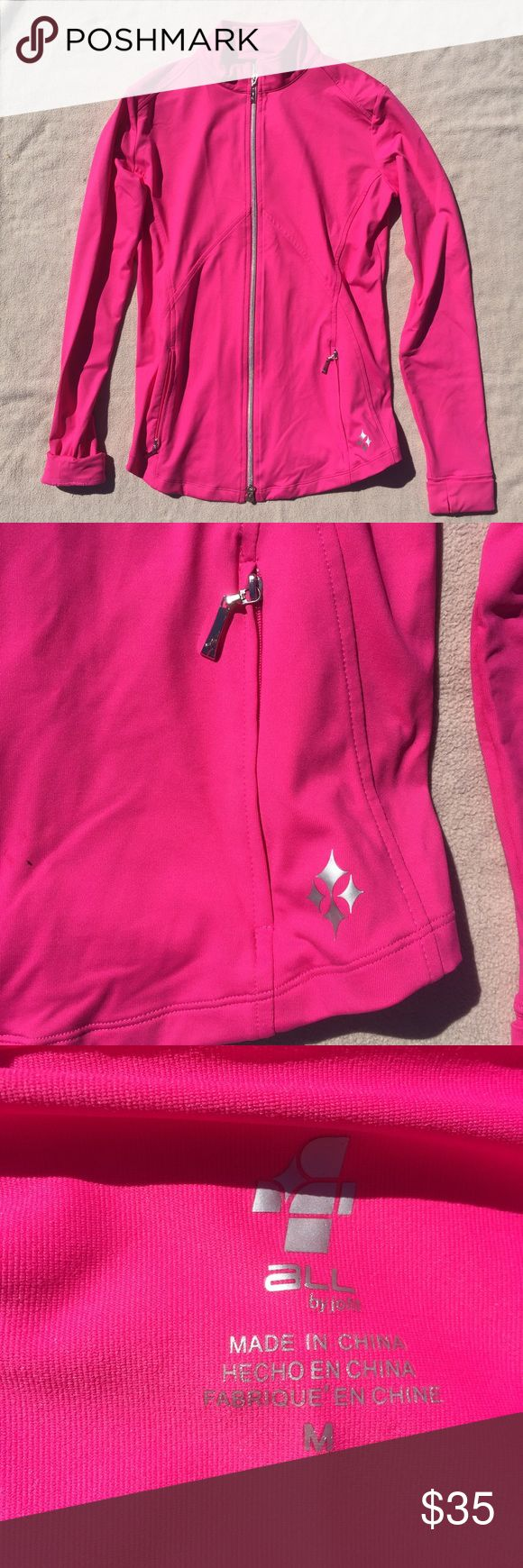 Jofit Thermal Jacket Pink Jofit Thermal Jacket, Silver Zip Up with 2 pockets, also with silver zippers. Jofit Jackets & Coats