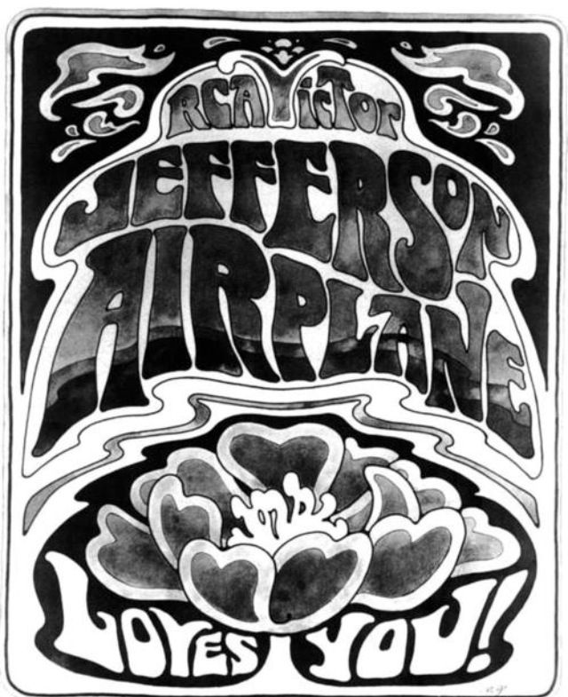 ☯☮ॐ american hippie psychedelic classic rock music retro vintage jefferson airplane black and